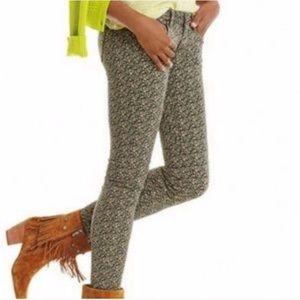 Cabi Ditsy Skinny Jeans. Multi-color floral